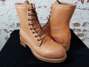 DSQUARED2 FLAT ANKLE BOOTS Canadiana Work Boots camel !Herbst/Winter 2019!