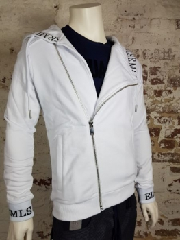 ELIAS RUMELIS HOODIE WITH ZIPPER GIUSEPPE weiß