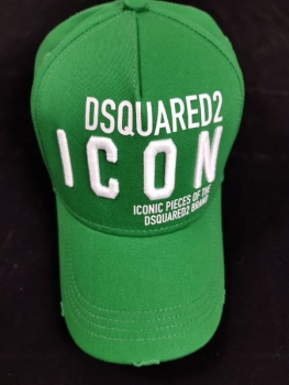 DSQUARED2 Baseball Cap OTHER CARGO smeraldo+bianco