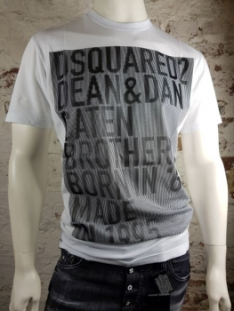 DSQUARED2 T-Shirt Caten Brothers white