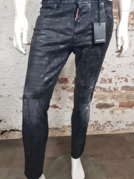 DSQUARED2 Skater Jeans Icon Black Wax Wash