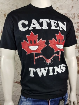 DSQUARED2 T-Shirt Caten Twins black
