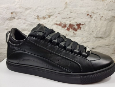 DSQUARED2 Lace-Up Low Top Sneaker 551 Vitello Sport nero nero