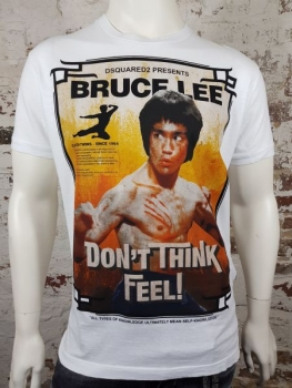 "DSQUARED2 T-Shirt ""Bruce Lee"" bianco"