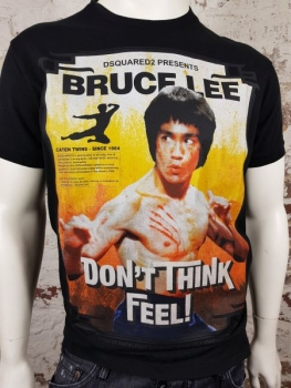 "DSQUARED2 T-Shirt ""Bruce Lee"" nero"