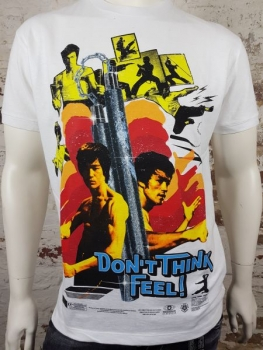 "DSQUARED2 T-Shirt ""Bruce Lee"" weiß"