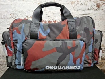 DSQUARED2  Camouflage Nylon Duffle Bag