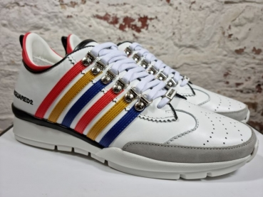 DSQUARED2 Lace-Up Low Top Sneaker 251 Vitello+Commato Rigato+Nappa
