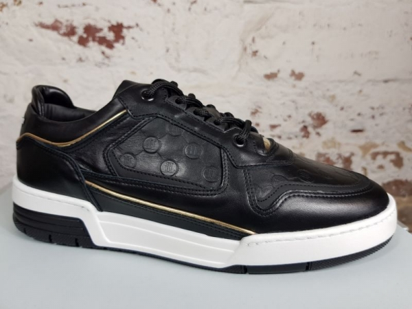 LEANDRO LOPES LOW TOP TURBO Sneaker, Black Patent