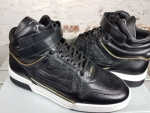 LEANDRO LOPES MID TOP TURBO Sneaker, Black Patent
